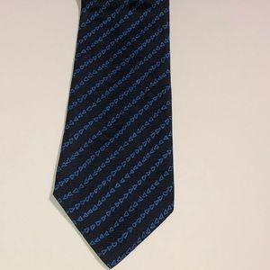 Greg Norman Collection Triangle Neck Tie Blue